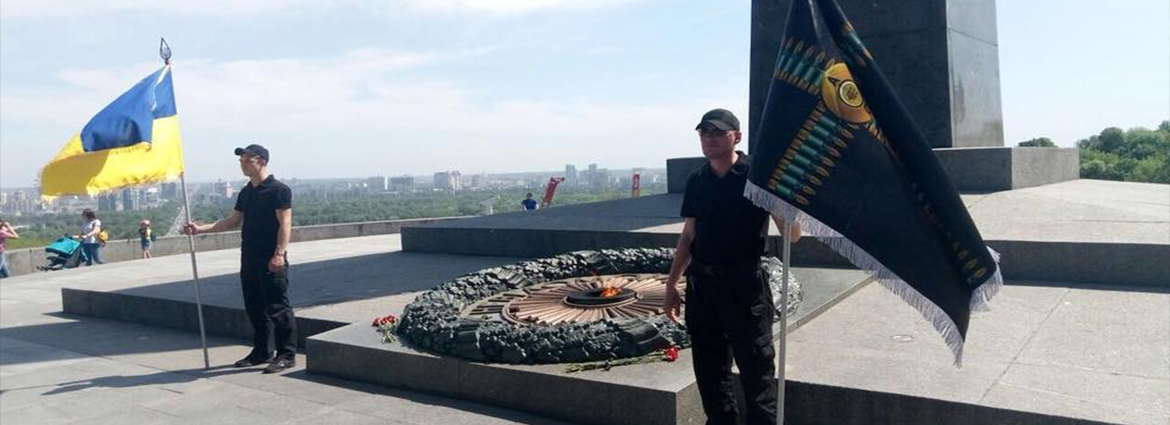 Ukrainian Union of ATO Veterans has been standing 24-hour guard near monument of Eternal Glory for around 6 months – Kyva